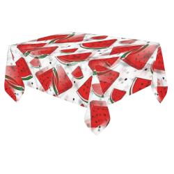 "Melon by Nico Bielow Cotton Linen Tablecloth 60""x 84"""