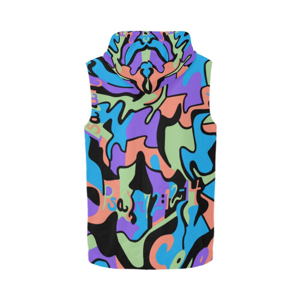 Breeze_SleevelessHoodie_Men All Over Print Sleeveless Zip Up Hoodie for Men (Model H16)