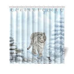 "Wonderful siberian tiger Shower Curtain 69""x70"""