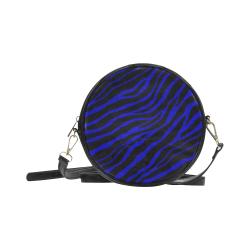 Ripped SpaceTime Stripes - Blue Round Sling Bag (Model 1647)