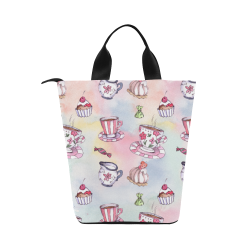 Coffee and sweeets Nylon Lunch Tote Bag (Model 1670)