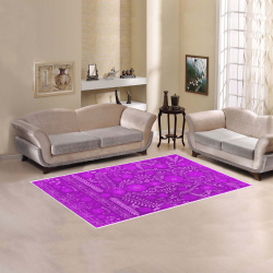 Ayumi Vintage Purple Floral Area Rug 5'x3'3''