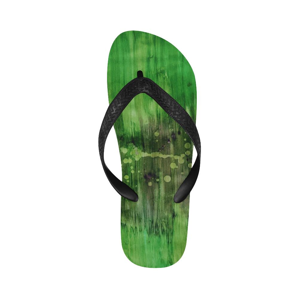rip green Flip Flops for Men/Women (Model 040)