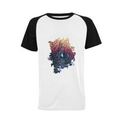 GrabYourDesign  - Autumn Day Men's Raglan T-shirt (USA Size) (Model T11)