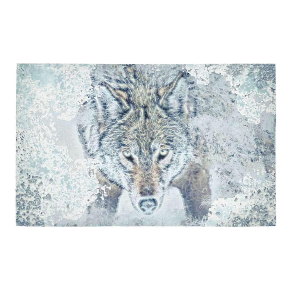 Snow Wolf Bath Rug 20''x 32''