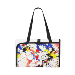 Blue and Red Paint Splatter Portable & Foldable Mat 60''x78''