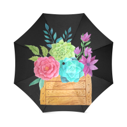 flores acuarela Foldable Umbrella (Model U01)