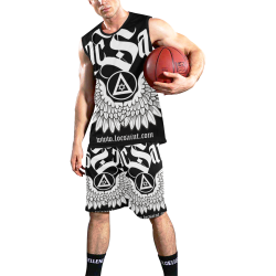 """Wings & Halo"" Work Out Set All Over Print Basketball Uniform"