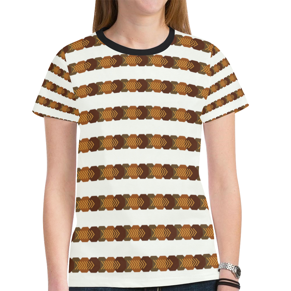 geometry New All Over Print T-shirt for Women (Model T45)