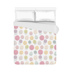 "Colorful Cupcakes Duvet Cover 86""x70"" ( All-over-print)"