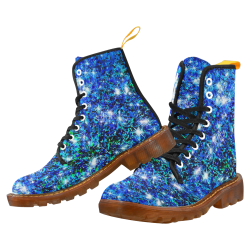 Sparkling Blue by Jera Nour Martin Boots For Women Model 1203H