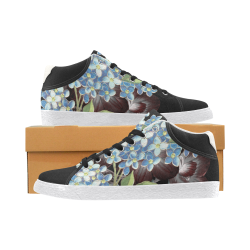 Stella floral black Women's Chukka Canvas Shoes (Model 003)