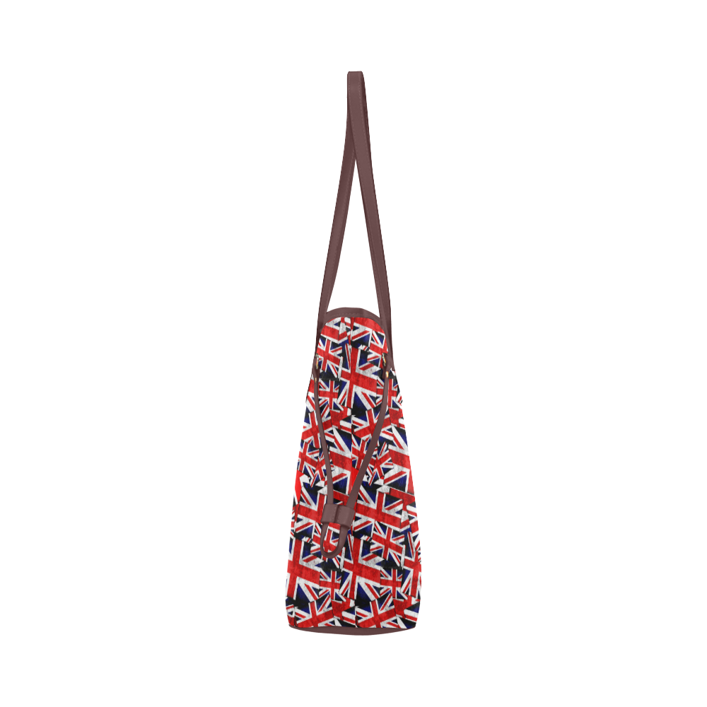 Union Jack British UK Flag - Brown Clover Canvas Tote Bag (Model 1661)