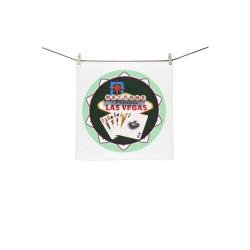 "LasVegasIcons Poker Chip - Poker Hand Square Towel 13""x13"""
