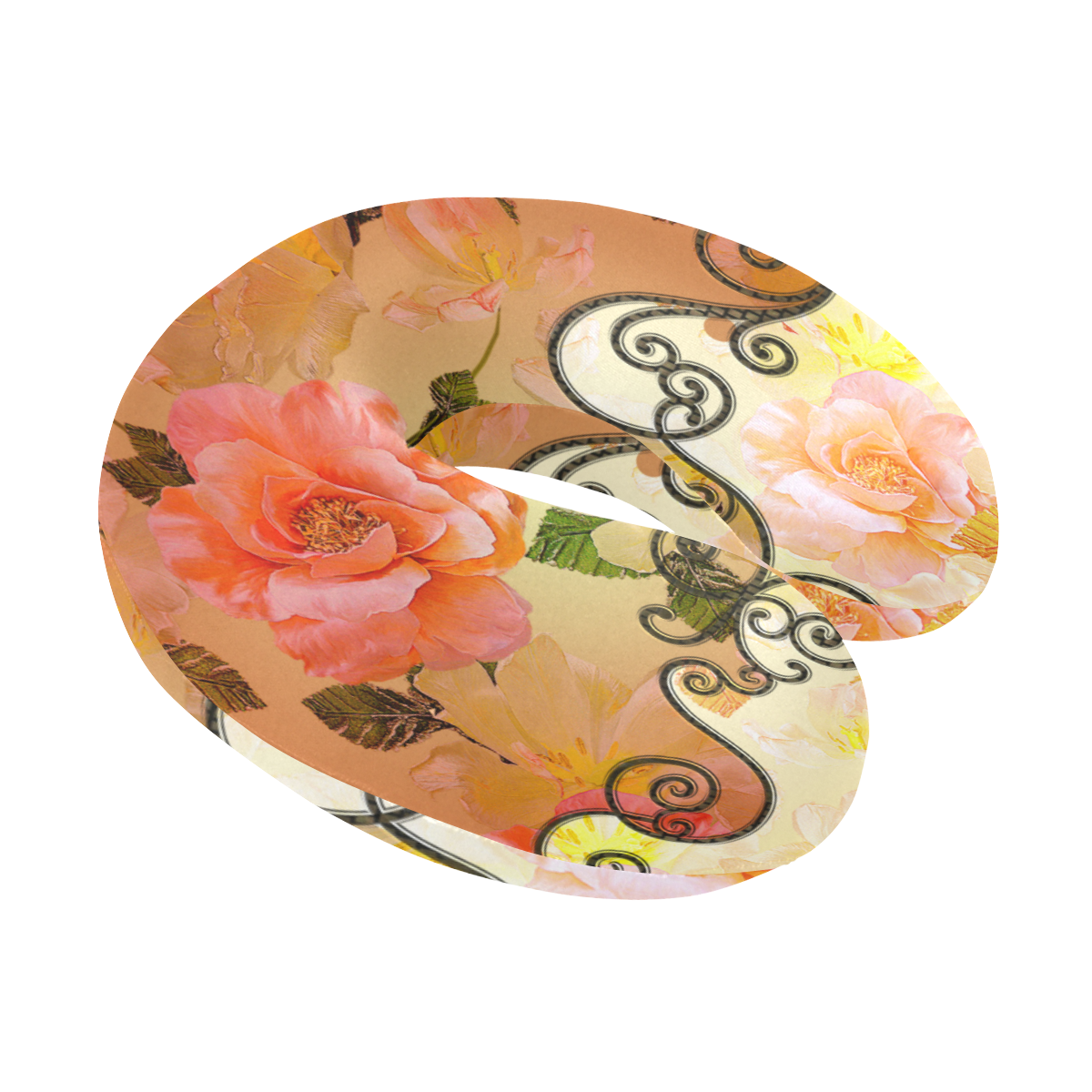 Beautiful flowers U-Shape Travel Pillow