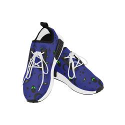 Alien Flying Saucers Stars Pattern (Blue/White) Men's Draco Running Shoes (Model 025)