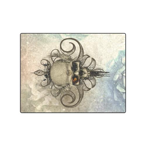"Creepy skull, vintage background Blanket 50""x60"""