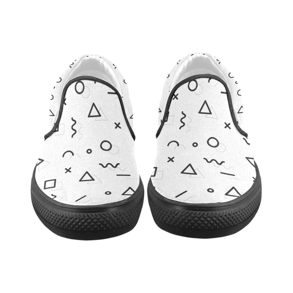 Shapes Women's Unusual Slip-on Canvas Shoes (Model 019)