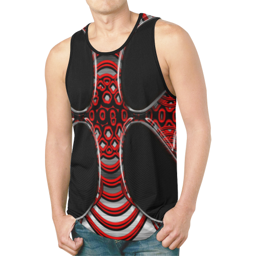 abstract_5500_2019_RBW_96h New All Over Print Tank Top for Men (Model T46)