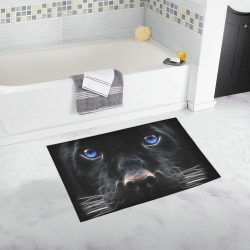 Big Black Cat Bath Rug 20''x 32''