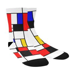 Bauhouse Composition Mondrian Style Crew Socks