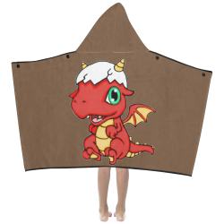 Baby Red Dragon Brown Kids' Hooded Bath Towels