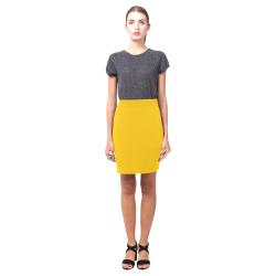 Yellow Pencil Skirt (solid color) Nemesis Skirt (Model D02)