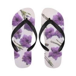 PURPLE FLOWERS Flip Flops for Men/Women (Model 040)