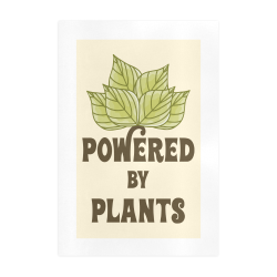 Powered by Plants (vegan) Art Print 19''x28''