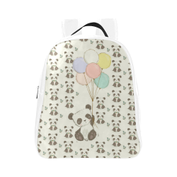 Balloon Panda School Backpack (Model 1601)(Small)