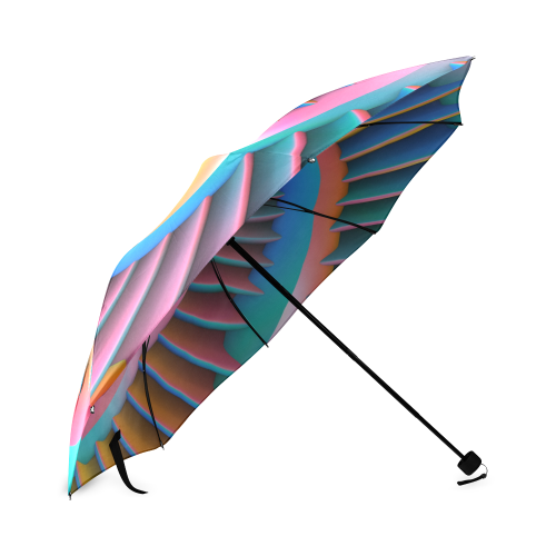Opposing Spirals Foldable Umbrella (Model U01)