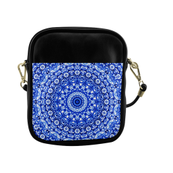 Blue Mandala Mehndi Style G403 Sling Bag (Model 1627)