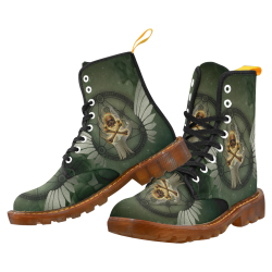 Skull in a hand Martin Boots For Men Model 1203H