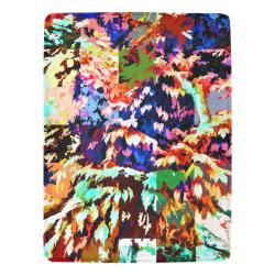 "Foliage Patchwork #7 - Jera Nour Ultra-Soft Micro Fleece Blanket 60""x80"""