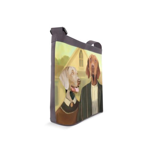 Dog's gothic Crossbody Bags (Model 1613)