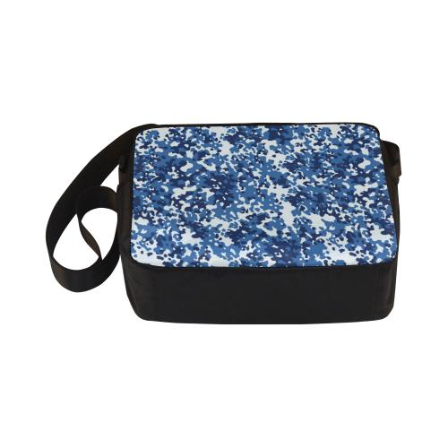 Digital Blue Camouflage Classic Cross-body Nylon Bags (Model 1632)