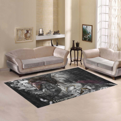 Aweswome steampunk horse with wings Area Rug7'x5'