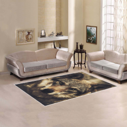 Wolf 2 Animal Nature Area Rug 5'x3'3''