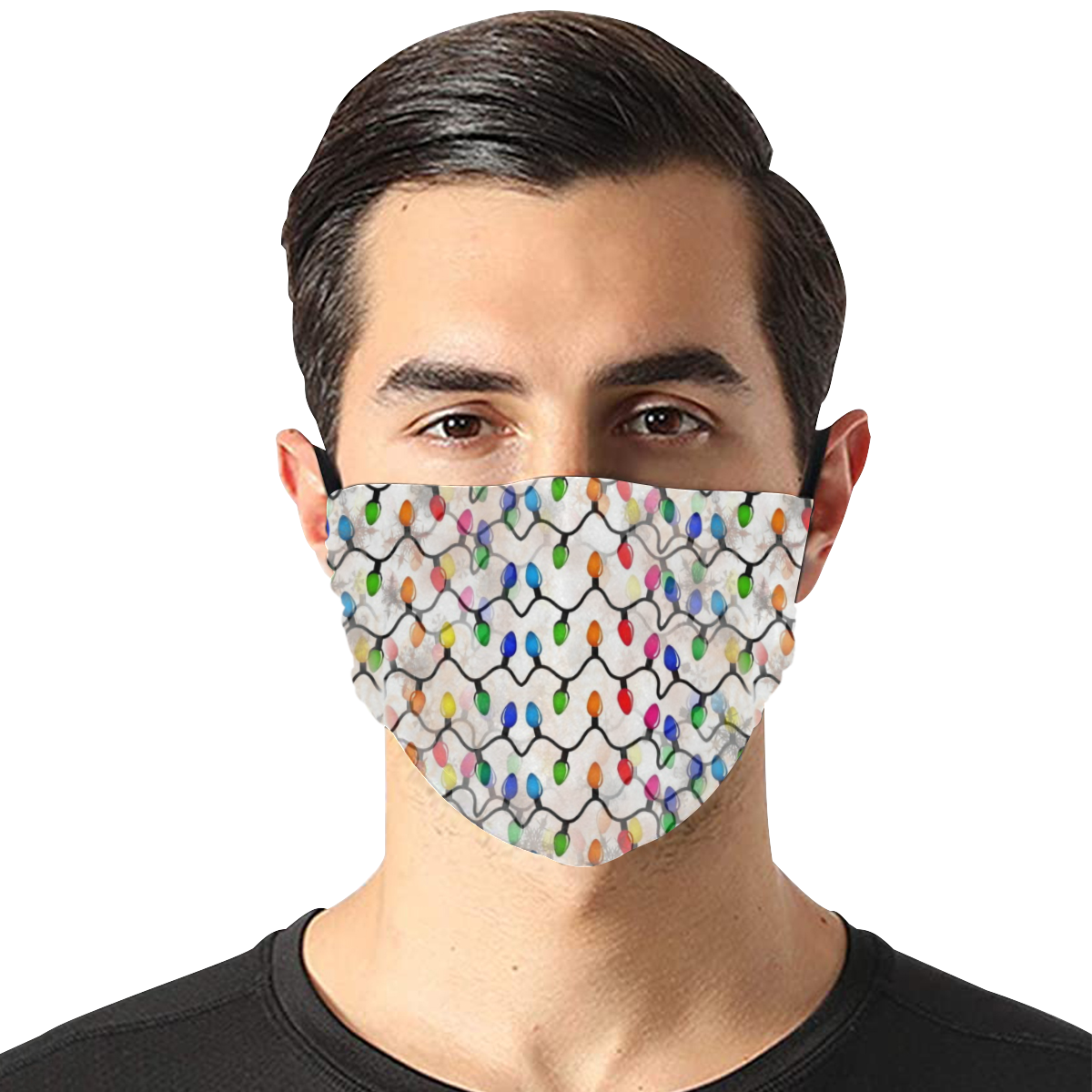 Lights by Nico Bielow Flat Mouth Mask with Drawstring