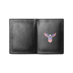 USA eagle Men's Leather Wallet (Model 1612)