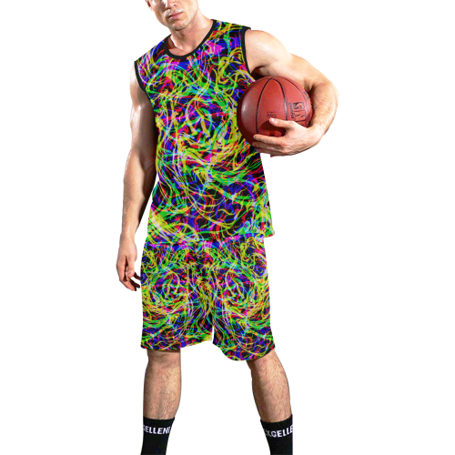colorful abstract pattern All Over Print Basketball Uniform