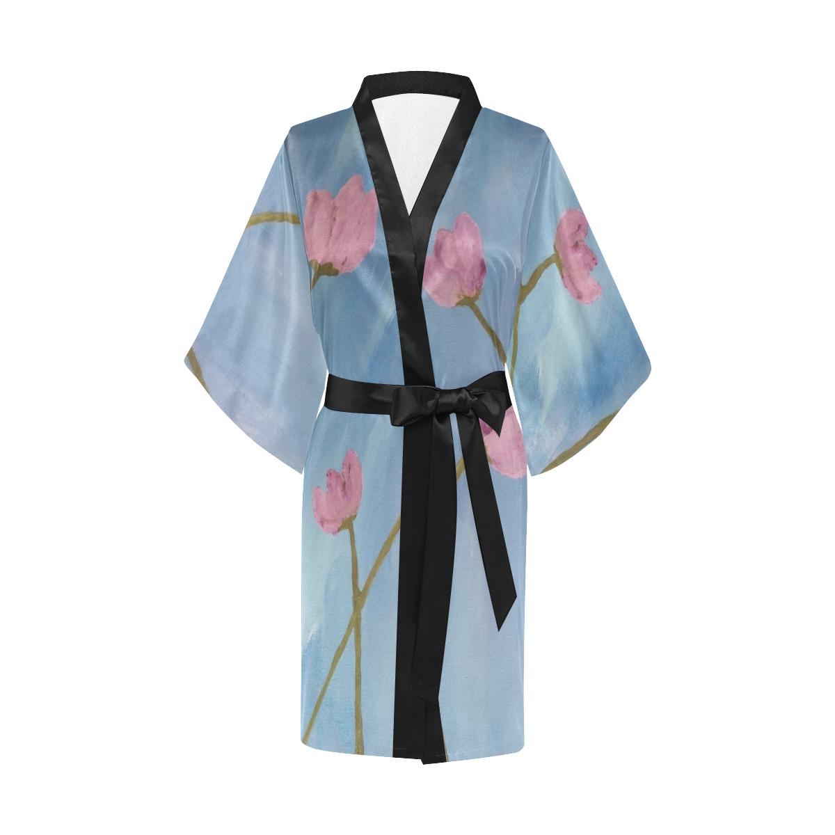 Lueur de Fleur Rose Kimono Robe