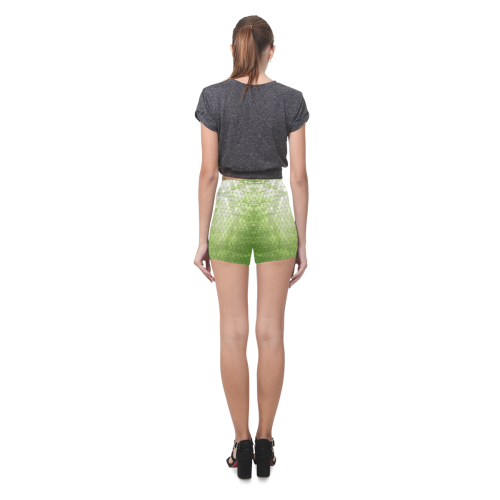 Snakeskin Lake Yellow Briseis Skinny Shorts (Model L04)