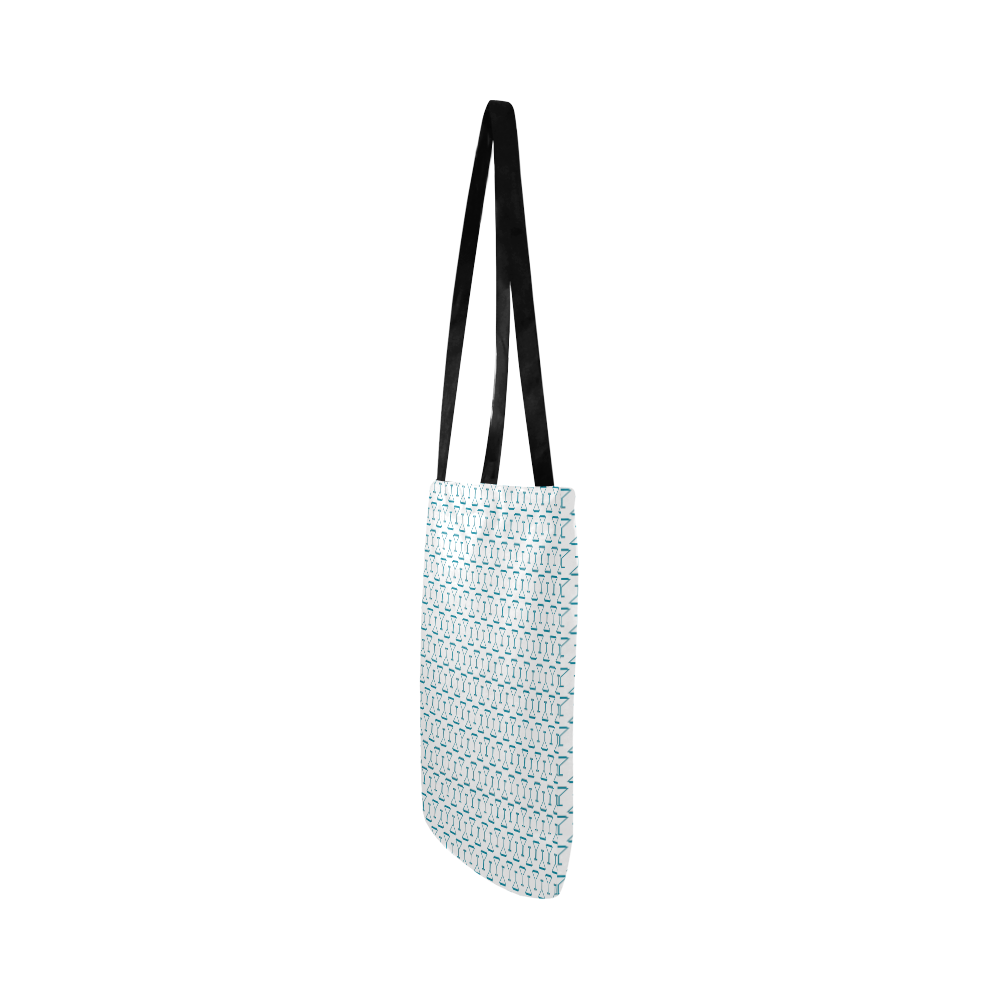Cocktail Glass Reusable Shopping Bag Model 1660 (Two sides)