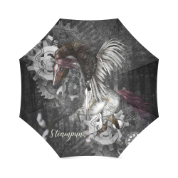 Aweswome steampunk horse with wings Foldable Umbrella (Model U01)