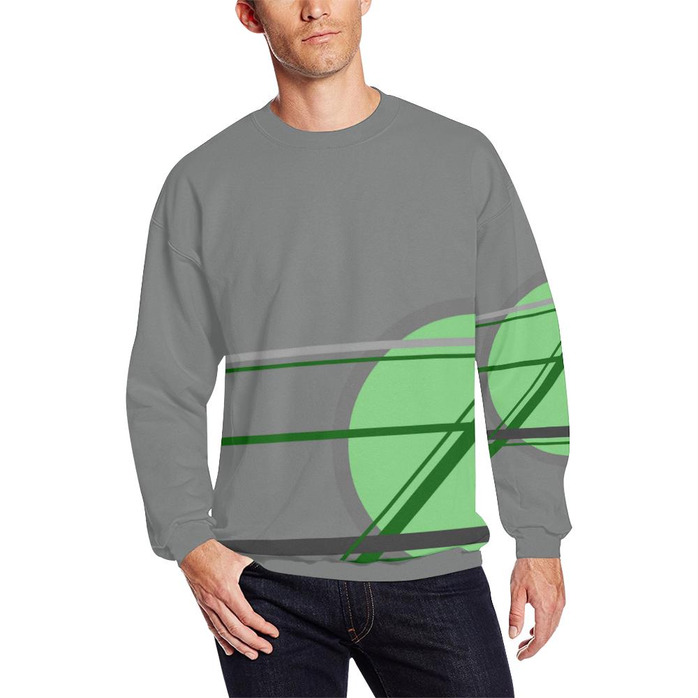 A Game Men's Oversized Fleece Crew Sweatshirt (Model H18)