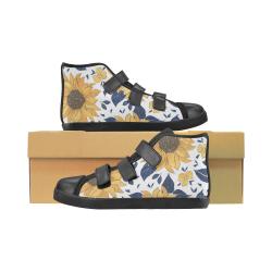 Sunflower Kids High Top Canvas Shoes Velcro High Top Canvas Kid's Shoes (Model 015)