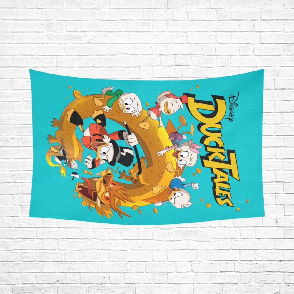 """DuckTales Cotton Linen Wall Tapestry 90""""x 60"""""""