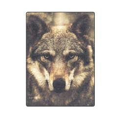 "Wolf 2 Animal Nature Blanket 58""x80"""