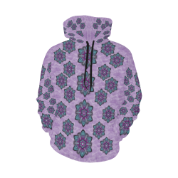 a gift with flowers stars and bubble wrap All Over Print Hoodie for Women (USA Size) (Model H13)